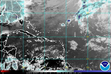 GOES East IR Satellite imagery from NESDIS